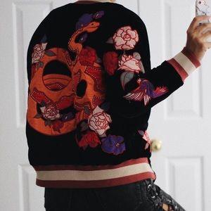 Urban Outfitters Velvet Bomber Jacket